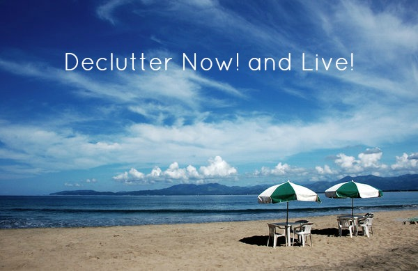 Declutter Now! and Live post pic