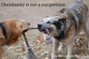 Christianity is not a competition