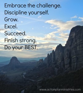 Embrace the challenge