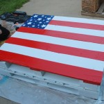 Repurposed pallet to flag