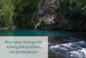 Pour your energy